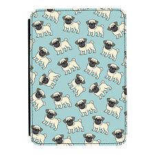 Pugs in the Sky Dog Puppy Funny Cute iPad Mini 1 2 3 PU Leather Flip Case Cover