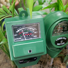3 in 1 PH Tester Soil Water Moisture Light Test Meter for Garden Plant FE