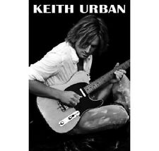 Country Music Star Keith Urban Black and White Rare Poster 24x36 New Free Ship