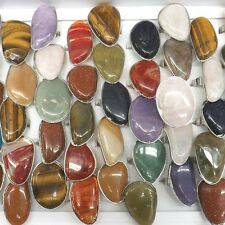 Big Natural Stone Rings Irregular Shape Adjustable Ring 50pcs/lot Wholesale