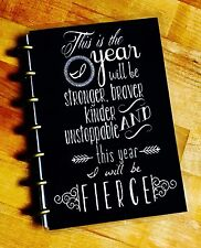 Fierce New Year Quote Front/Back Cover Set for use with the MINI HAPPY Planner
