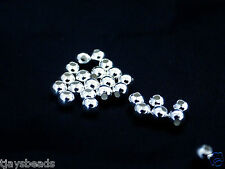 20g of 3mm Sterling Silver Round Beads  - Approximately 300+ beads