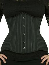 "GUC! 426 Authentic Black Pinstripe 26"" inch Underbust Corset Double Steel Boned"