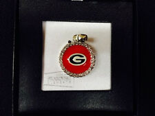 Georgia Bulldogs UGA Circle Pendant Swarovski Crystals Charmed I'm Sure Brand