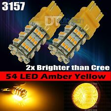 2X 3157 High Power Amber Yellow LED Turn Signal Blinker Corner Lights bulbs