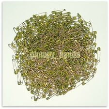 """1000 COPPER bronze antiqued small coiled safety pins 19mm 3/4"""" wholesale ribbons"""