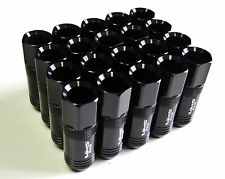 LEXUS 20pc JDM BLACK 12X1.5 60mm LONG EXTENDED RACING LUG NUTS *SC IS GS ES RX*