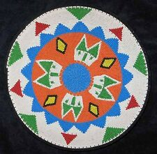 Primary Colors Huts Handmade African Zulu Telephone Wire Basket/Plate
