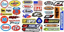 3 SHEETS NEW MULTI LOGO CAR MOTOCROSS ATV ENDURO BIKE RACING DECAL STICKER SM15