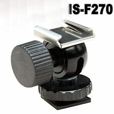 Mini Ball Head Hotshoe Flash Adapter UK Seller