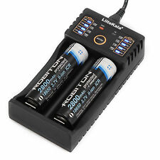 LiitoKala Lii-202 2 Slot USB Battery Charger For Ni-MH Li-ion LiFePO4 Battery