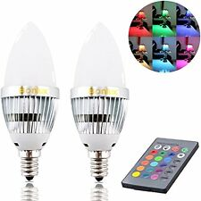 Bonlux 3W RGB E12 Candelabra LED Bulb 16 Colors 4 Modes Choice (2-Pack)