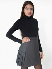 American Apparel School Girl Pleated Skirt - Light Heather Taupe / Grey - Size M