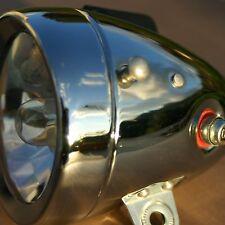 Scheinwerfer Dynamo  Retro Vintage verchromt 12V Metallgehäuse Fahrradlicht