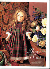 "18"" SCULPTURED soft DOLL & SMOCKING smock DRESS SEWING ORIGINAL PATTERNS"