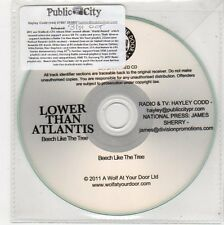 (FE728) Lower Than Atlantis, Beech Like The Tree - 2011 DJ CD