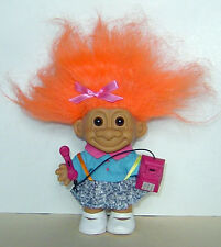 """RUSS  4"""" TROLL DOLL TEENAGER GIRL ON THE PHONE EXCELLENT CONDITION RUSS STICKER"""