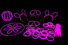 "100- 8"" Pink Glow Stick Bracelets Party Pack"