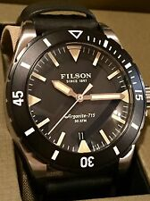 NWT Filson Dutch Harbor Men's Watch Diver Watch Black Face/Band 0120001751