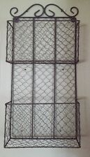 New Vintage Chicken Wire Primitive Rustic Shabby Chic Letter Hanging Wall Basket
