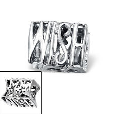 *New* Rhona Sutton 925 Sterling Silver WISH European charm bead, hopes dreams