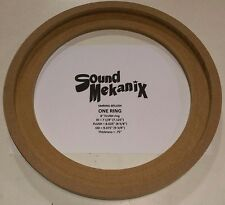 "MDF FLUSH Speaker Rings, 8"" Size FLUSH Mount 3/4"" Thick ONE RING Made in USA"