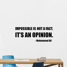 Muhammad Ali Quote Wall Decal Boxing Vinyl Sticker Sport Gym Poster Mural 210crt