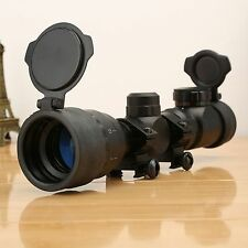 Tactical 2-6x32 Red Green Mil-dot Sight Scope for Rifle Gun Picatinny Rail Mount