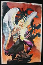 Crazy Angel Painted Art - Signed art by Lan Medina