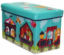 Toy Boxes Chests Boys Girls Storage Box Organizer Child Bedroom Circus Animals