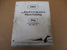 1961 Johnson Sea Horse 3 HP outboard parts catalog 378457 JW JWL 17
