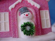 GUMDROP House w Snowman Hallmark Christmas ORNAMENT Repaint 2011 TREAT TREE wBX