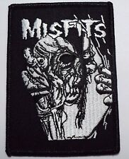 misfits skull  & eyeball  EMBROIDERED  PATCH IRON OR SEW
