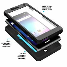 POETIC Revolution Hybrid Case w/ Built-In Screen Protector for BLU R1 HD Black