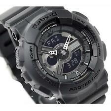 CASIO BABY-G, G-SHOCK MINI, BA110BC-1A BA-110BC-1A, ANALOG DIGITAL, MATTE BLACK