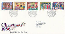 18 NOVEMBER 1986 CHRISTMAS ROYAL MAIL FIRST DAY COVER BUREAU SHS (s)