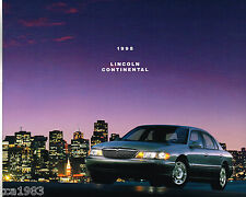 1998 LINCOLN CONTINENTAL Brochure / Catalog with Color Chart, '98