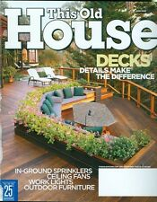 2004 This Old House Magazine: Decks/In Ground Sprinklers/Ceiling Fans/Work Light