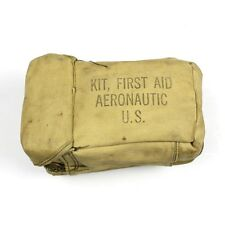 ORIGINAL WWII US ARMY AIR FORCES / USAAF AIRCRAFT FIRST AID KIT POUCH AERONAUTIC