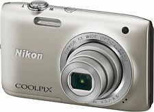 Nikon Coolpix S2800 20MP Point & Shoot Digital Camera w/ 5x Optical Zoom Silver