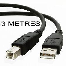 3 metre USB 2.0 Printer cable CANON PIXMA iP4850 iP4950 iX6550 MX715 MX885 MX895