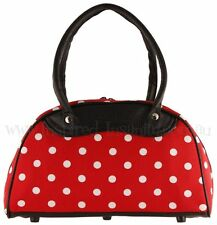 PolKa DoT PinUp - Cherry Red 50s Rockabilly Bowling Bag ~ PsyChoBiLLy PinuP