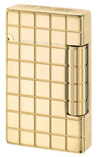 S T Dupont Initial Grid Golden Bronze finish lighter (020801)