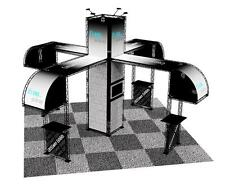 TRADE SHOW BOOTH DISPLAY CUSTOM 20' x 20' POP OUT BANNER STAND ISLAND CROSSWIRE
