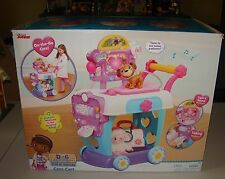 Disney Junior Doc McStuffins Toy Figure Hospital Patient Care Cart Kids Play Set
