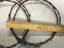 """2 Wreaths Rusty Barbed Wire 10"""" Across Western Cowboy Crafts"""