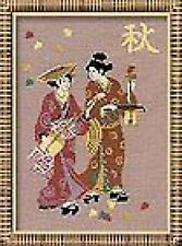 "Autumn Music Japanese Geishas Cross Stitch Kit 8.25"" x 11.75"" ( Riolis 609 )"