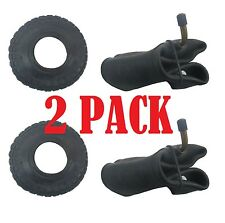 2 PACK Tyre & Innertube BENT VALVE (4.10 /3.50 - 4) Sack Truck Trolley Wheel