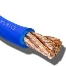 ★ Dietz 23223 OFC Kupfer High End Powerkabel 10mm² Kabel blau Meterware