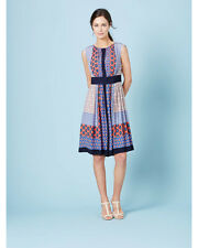 Boden Women's Selina Dress Pink/Navy Mandalay Hotchpotch Size 14R NWT $198